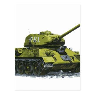 Cartão Postal Tanque do russo de Apg do tanque