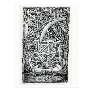 Cartão Postal Tanque do tentáculo por Brian Benson