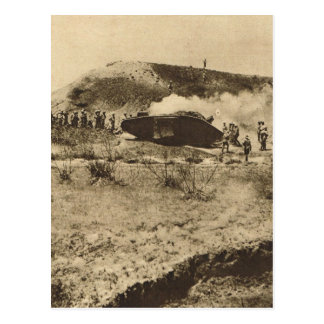 Cartão Postal Tanque no Somme, France