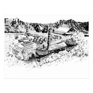 Cartão Postal Tanque retro do brinquedo GTO/Armoured