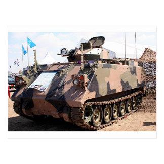 Cartão Postal Tanque: veículo militar blindado