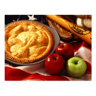 Cartão Postal Tão americano quanto a torta de maçã!