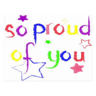 Cartão Postal Tão orgulhoso de você