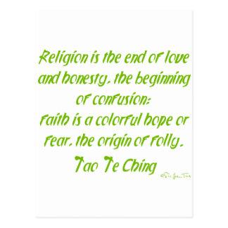 Cartão Postal Tao Te Ching na religião