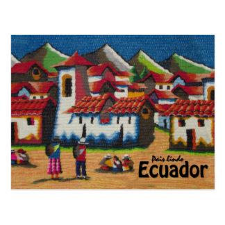 Cartão Postal Tapeçaria típica de Equador Otavalo