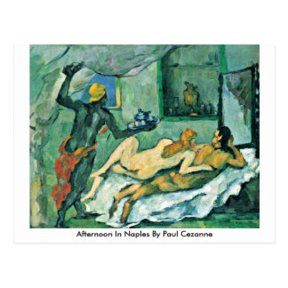 Cartão Postal Tarde em Nápoles por Paul Cezanne