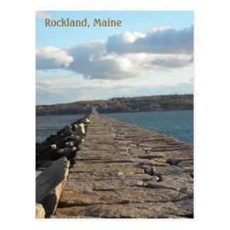 Cartão Postal Tarde no quebra-mar de Rockland