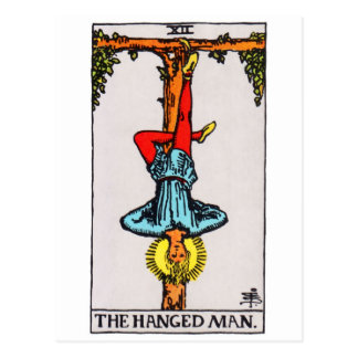 Cartão Postal tarot-hangedman