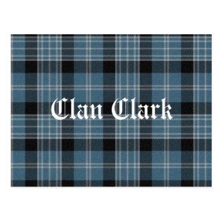 Cartão Postal Tartan de Clark do clã