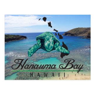 Cartão Postal Tartaruga da baía de Havaí Hanauma - Honu