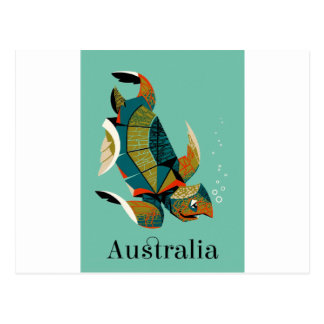 Cartão Postal Tartaruga de mar australiana animador