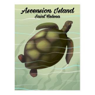 Cartão Postal Tartaruga de mar da Ilha Ascensão