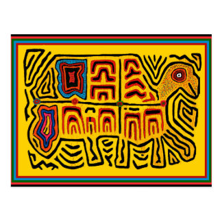 Cartão Postal Tartaruga de passeio tribal indiana de Kuna