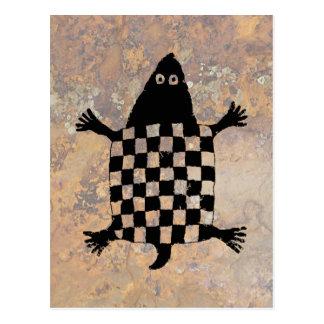 Cartão Postal Tartaruga, design da cerâmica de Mimbres