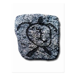Cartão Postal Tartaruga-pedra havaiana