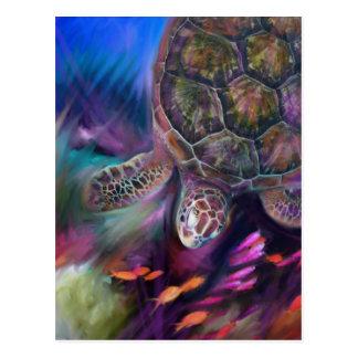 Cartão Postal Tartarugas de mar das caraíbas
