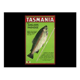 Cartão Postal Tasmânia o paraíso dos pescadores
