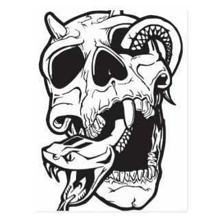 Cartão Postal Tatuagem do crânio