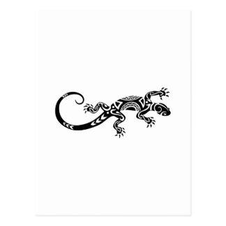 Cartão Postal tatuagem maori do lagarto