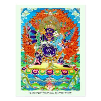Cartão Postal Tatuagem oriental legal do deus da morte de