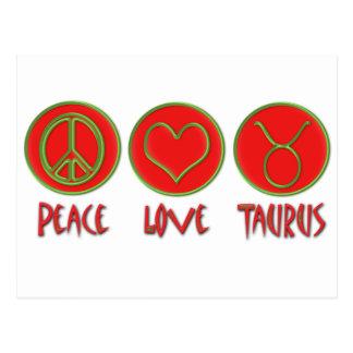 Cartão Postal Taurus do amor da paz