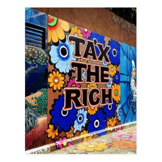 Cartão Postal Taxe os ricos - San Francisco