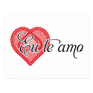 Cartão Postal Te amo do Eu (português)
