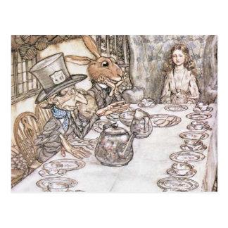 Cartão Postal Tea party com o Hatter louco