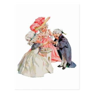 Cartão Postal Tea party de Martha Washington pequeno