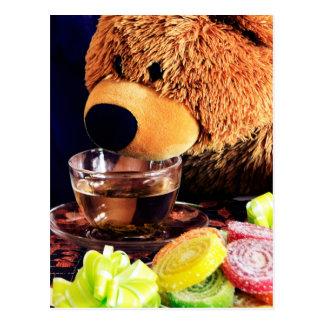 Cartão Postal Tea party do urso de ursinho