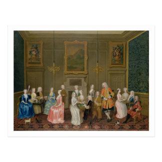 Cartão Postal Tea party em Casa do senhor Harrington, St James