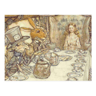 Cartão Postal Tea party louco dos Hatters