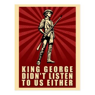 Cartão Postal Tea party - o rei George não escutou tampouco