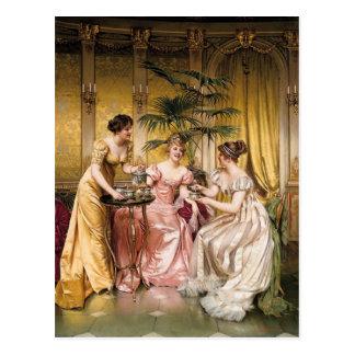Cartão Postal Tea party - Soulacroix