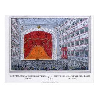 Cartão Postal Teatro am Karntnertor Viena