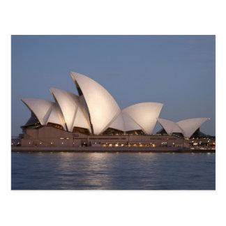 Cartão Postal Teatro da ópera de Sydney no crepúsculo