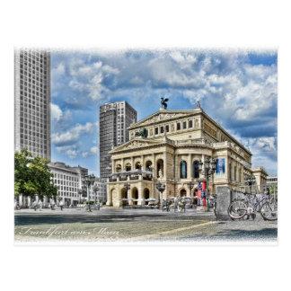 Cartão Postal Teatro da ópera em Francoforte