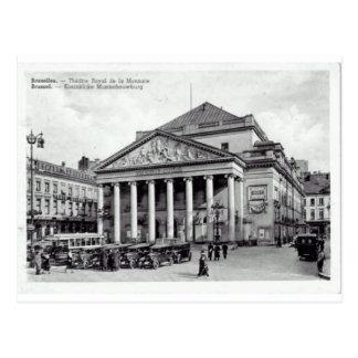 Cartão Postal Teatro de Bruxelas, Bélgica real