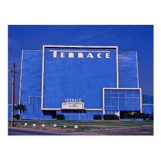 Cartão Postal Teatro do cinema ao ar livre do terraço,