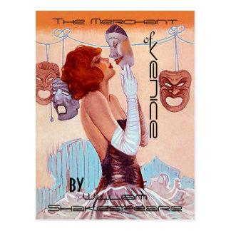 Cartão Postal Teatro-Poster-Olhar Shakespeare do vintage dos
