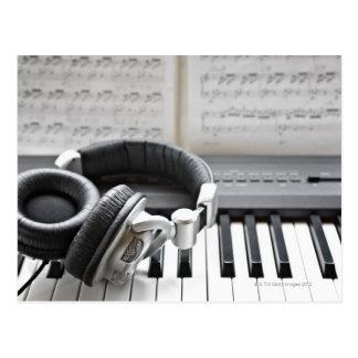 Cartão Postal Teclado de piano elétrico