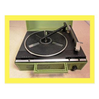 Cartão Postal Tecnologia retro do jogador gravado da plataforma