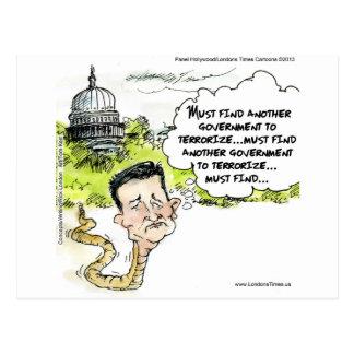 Cartão Postal Ted Cruz Slithers do congresso engraçado