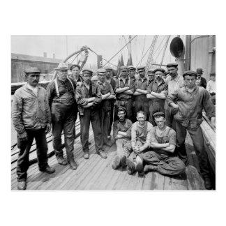 Cartão Postal Teddy Roosevelt com grupo, 1900s adiantados