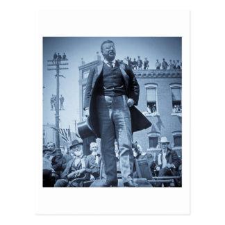 Cartão Postal Teddy Roosevelt os alces de Bull fala 1905