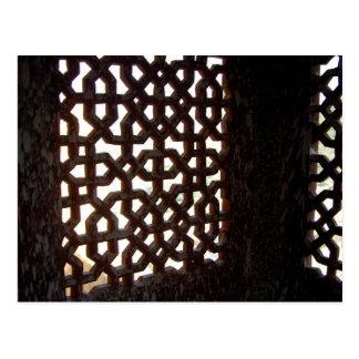 Cartão Postal Tela de madeira indiana da janela