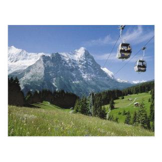 Cartão Postal Teleféricos de Grindelwald