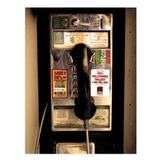 Cartão Postal Telefone de pagamento velho