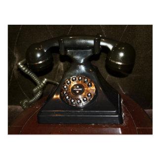 Cartão Postal Telefone velho do tratamento por imagens do