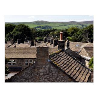 Cartão Postal Telhados de North Yorkshire